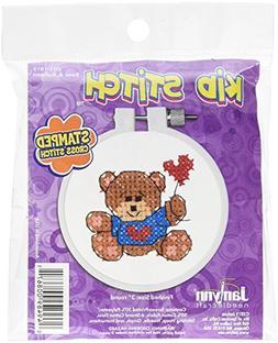 Janlynn 021-1815 Kid Bear & Balloon Stamped Cross Stitch Kit