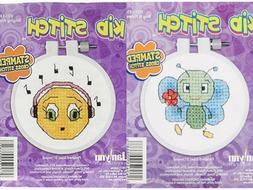 Janlynn 021-1816 Kid Bug & Flower Stamped Cross Stitch Kit,