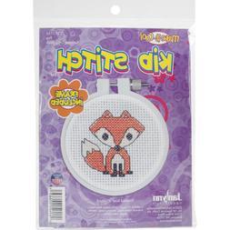 Janlynn 21-1755 Kid Stitch Fox Mini Counted Cross Stitch Kit