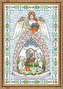 "Kitty Angel Counted Cross Stitch Kit-14""X20"" 14 Count"