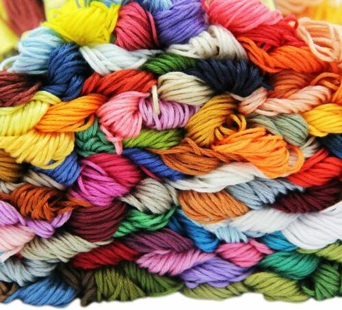 100 Colors Stitch Thread Embroidery Skeins Cotton