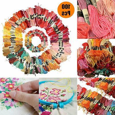 100pcs/set DMC Cross Stitch Cotton Embroidery Thread Floss S