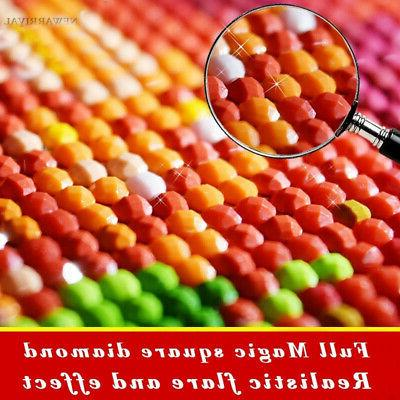 30*30 DIY Colorful Drill Diamond Painting Kit Embroidery
