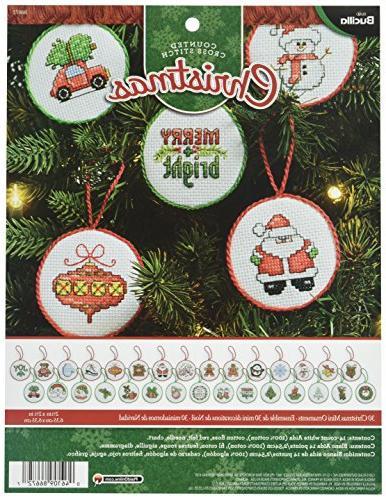 30 mini ornaments counted cross