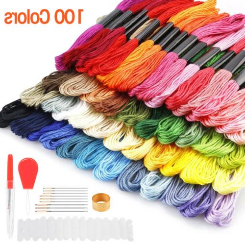 50/100/150 Colors Cross Stitch Cotton Thread Sewing Skeins