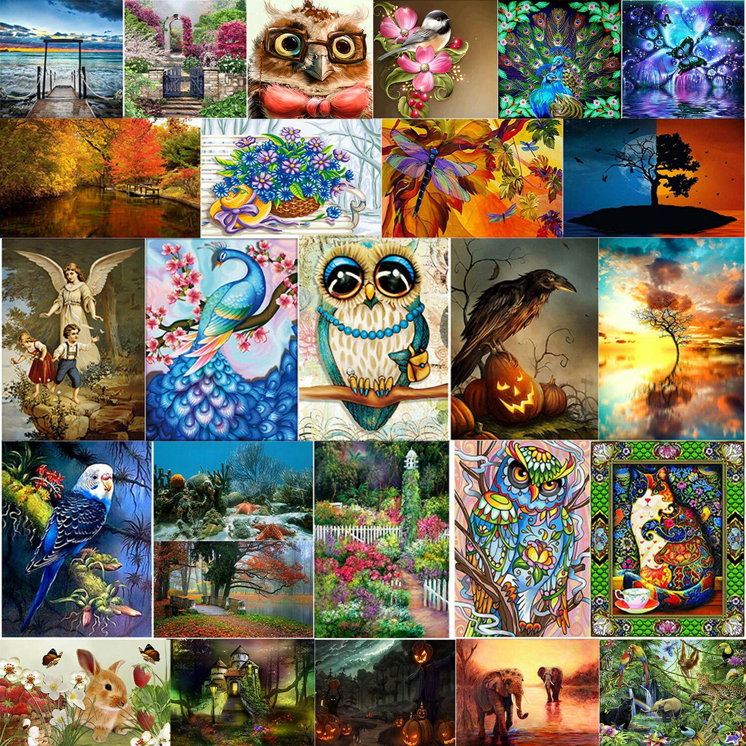 5D Diamond Painting Embroidery Cross Craft Kit Home Wall with Tools