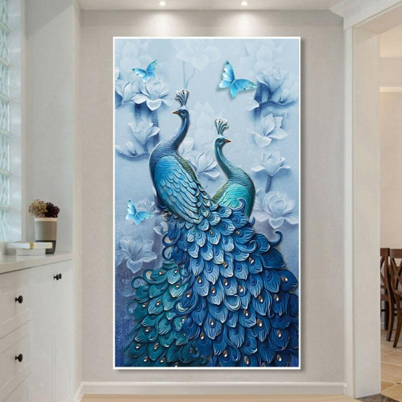 5D Peacock Painting DIY Stitch Home Decor