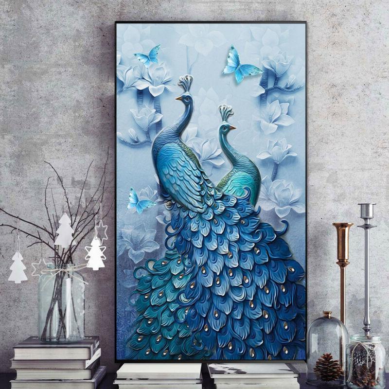 5D Diamond Peacock Painting Mosaic Cross Stitch Decor
