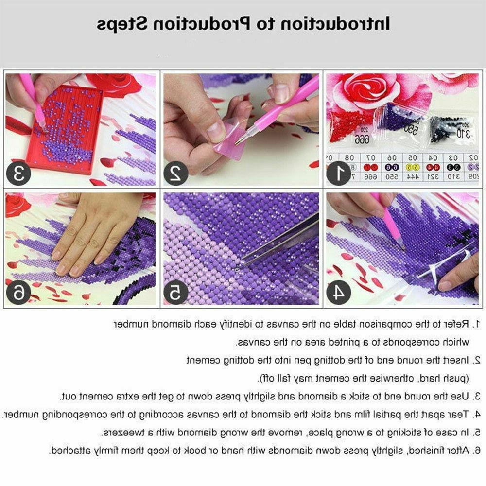 DIY 5D Kits Drill Tiger Animal Embroidery Stitch USA