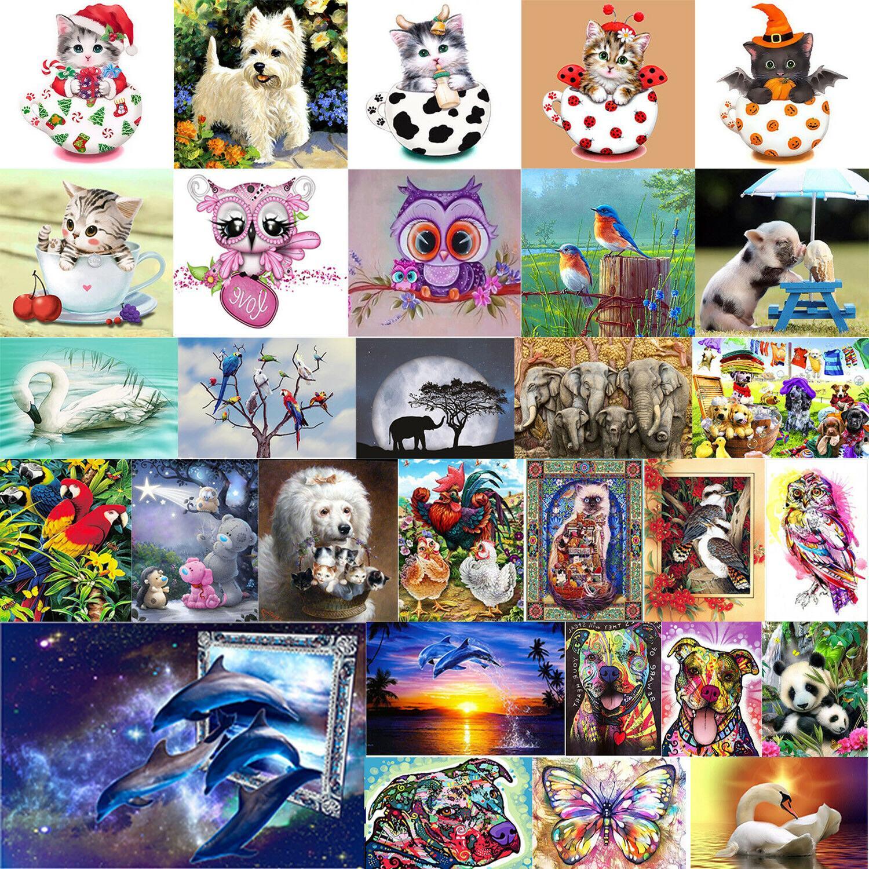 5d diy diamond painting animals embroidery cross