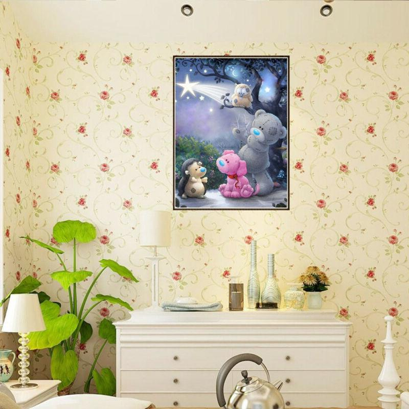 5D DIY Painting Bear Embroidery Craft Stitch Home Wall Art