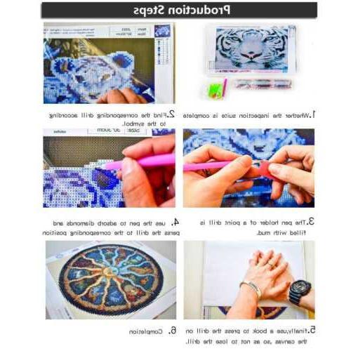5D Full Drill Diamond Painting Stitch Decors