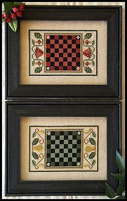 Fruit Game Boards Cross Stitch Chart and Free Embellishment