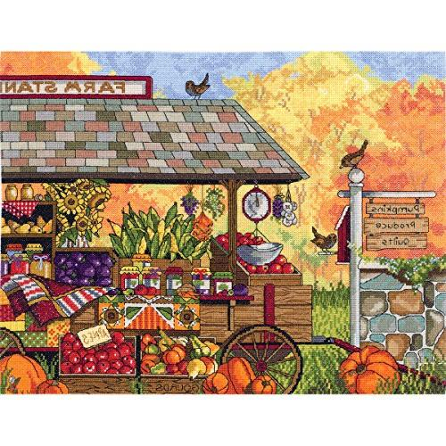 Janlynn Buck's County Farm Stand Counted Cross Stitch Kit, 1