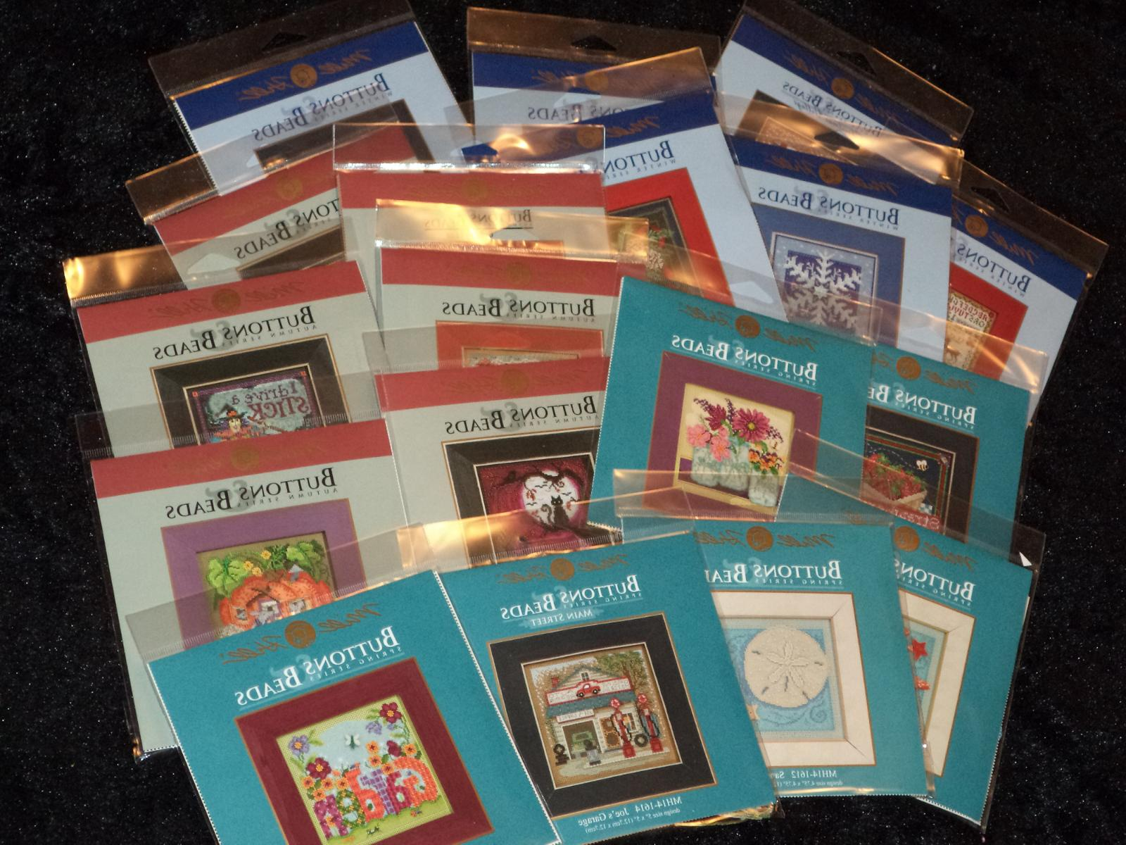 buttons and beads counted cross stitch kits