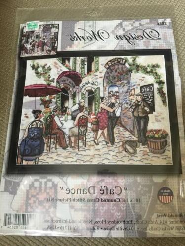 cafe dance counted cross stitch kit 10