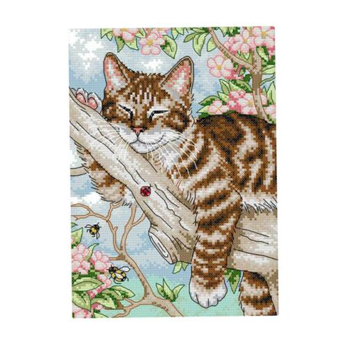 Cat Stamped Cross Stitch Kit 11CT Counted for Beginners DIY