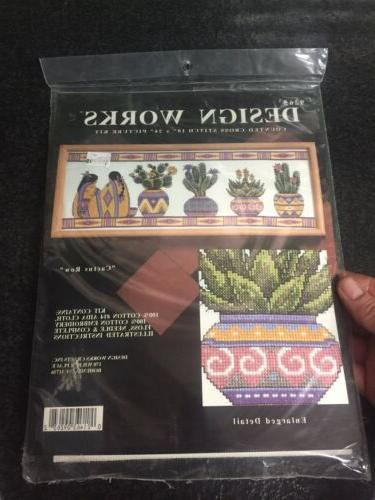 counted cross stitch cactus row picture kit