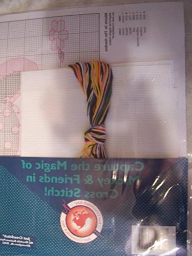 'Minnie In Garden' Counted Cross-Stitch Kit