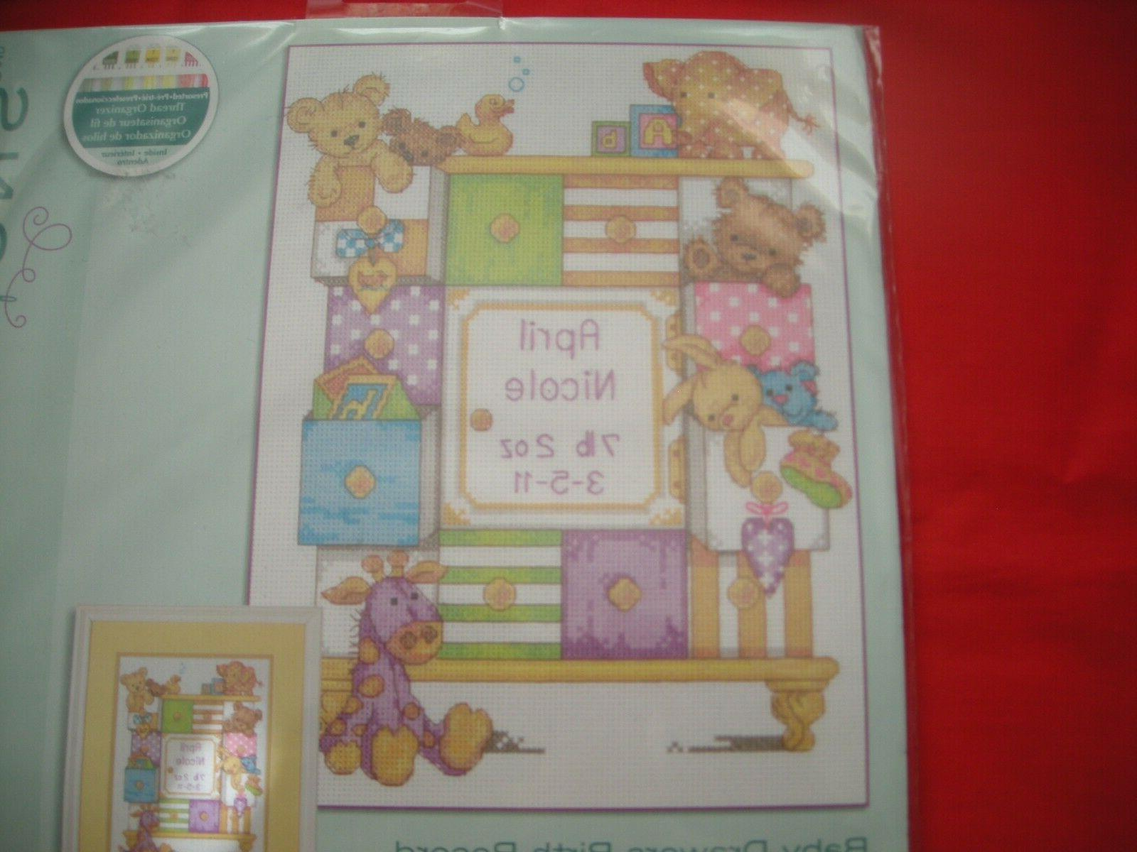 counted cross stitch kit baby drawers birth