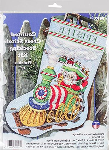 counted cross stitch kit stocking