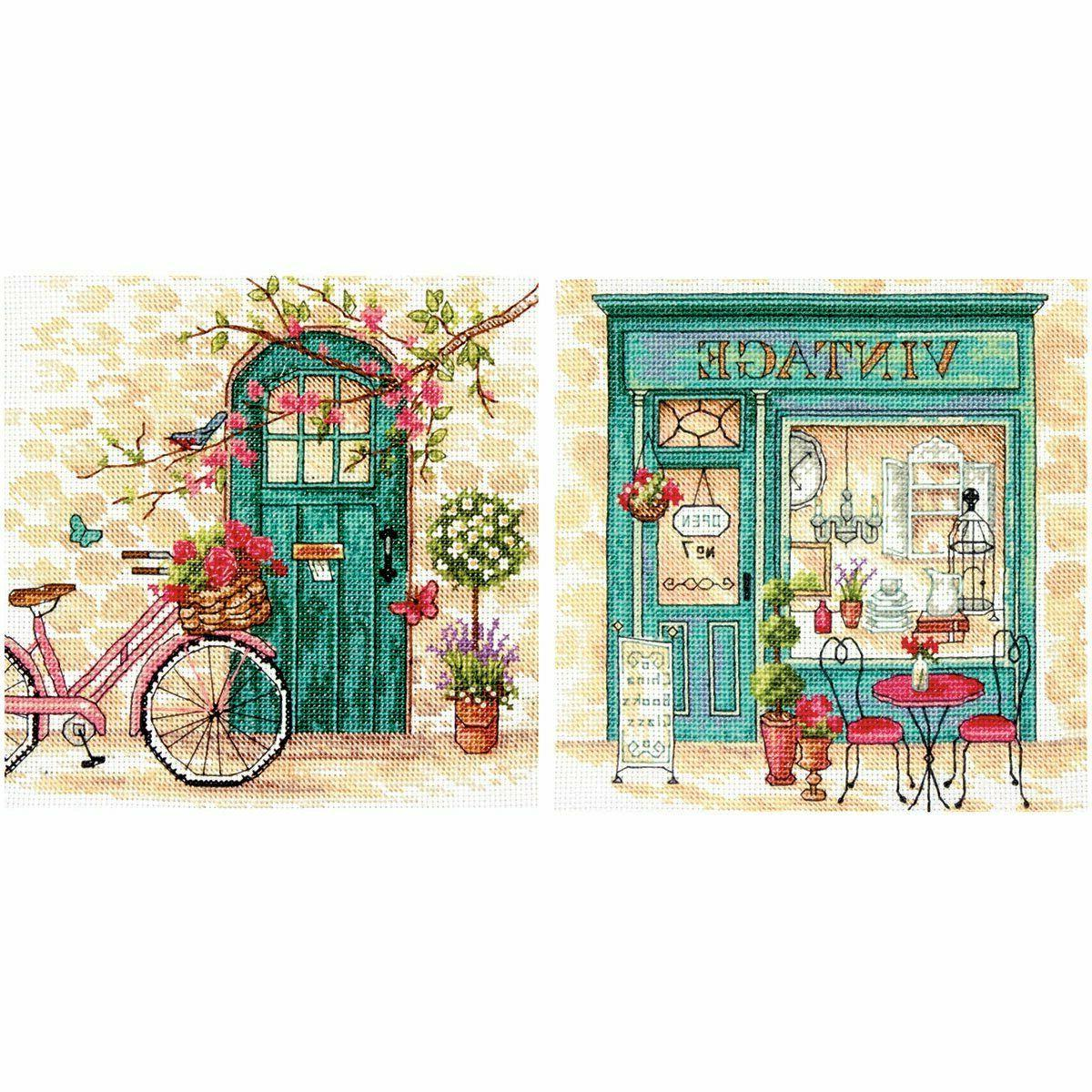 crafts afternoon in provence counted cross stitch