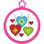 Cross Stitch Kit ~ Plaid-Bucilla My 1st Stitch Beginner Hear
