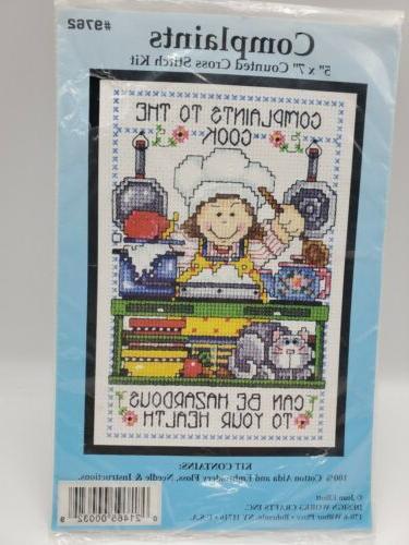 cross stitch kit cook complaints joan elliott