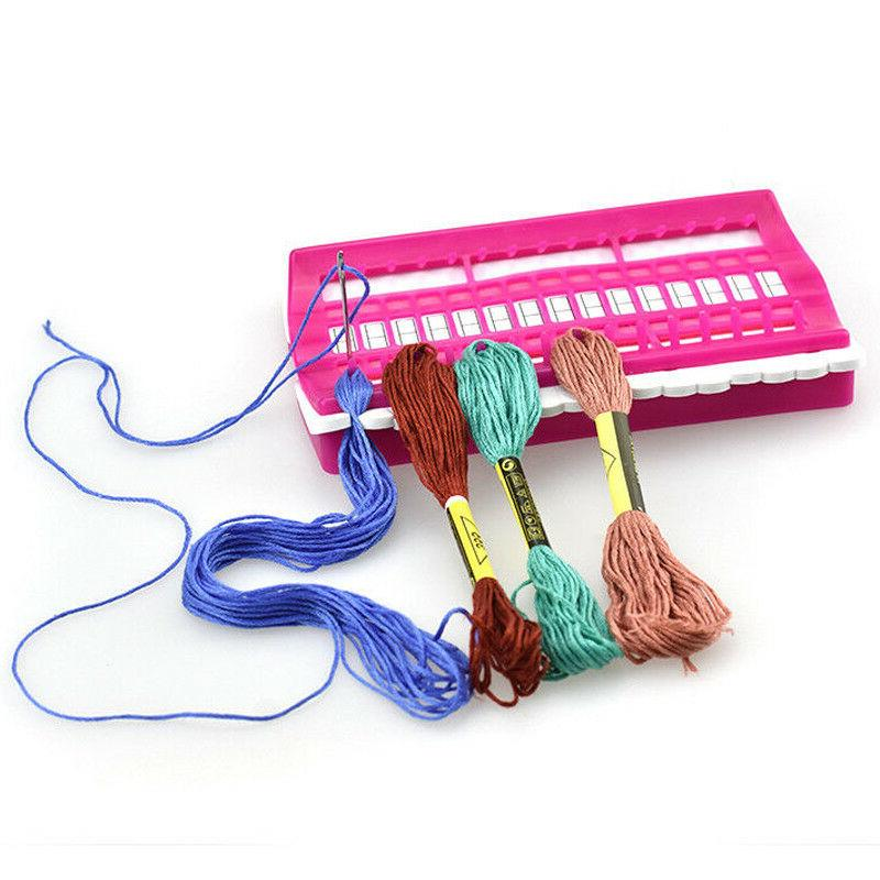 1PC Cross Stitch Row Line Sewing Needle Holder Embroidery Fl