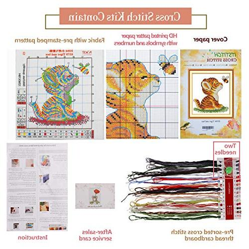 Cross Stamped Quilt Embroidery Needlepoint Kits,
