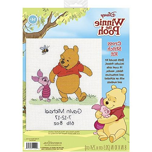 Dimensions Winnie The Record Counted Stitch Kit