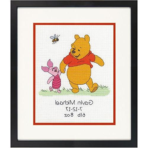 Dimensions Needlecrafts Disney Winnie The Pooh Birth Record Counted Cross Stitch Kit