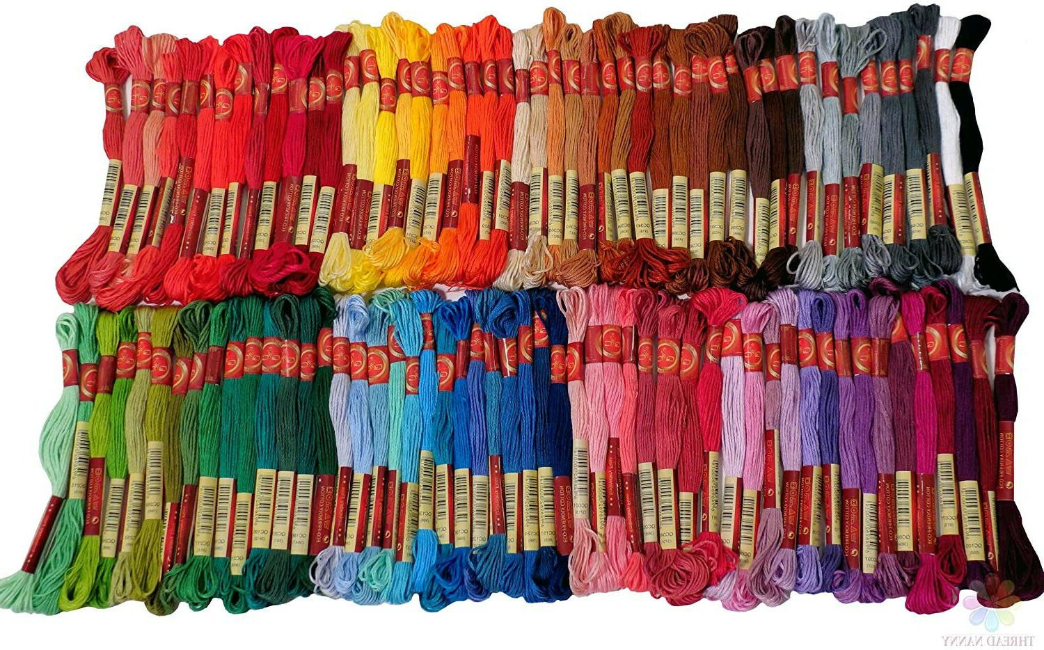 embroidery thread full 100 colors embroidery floss