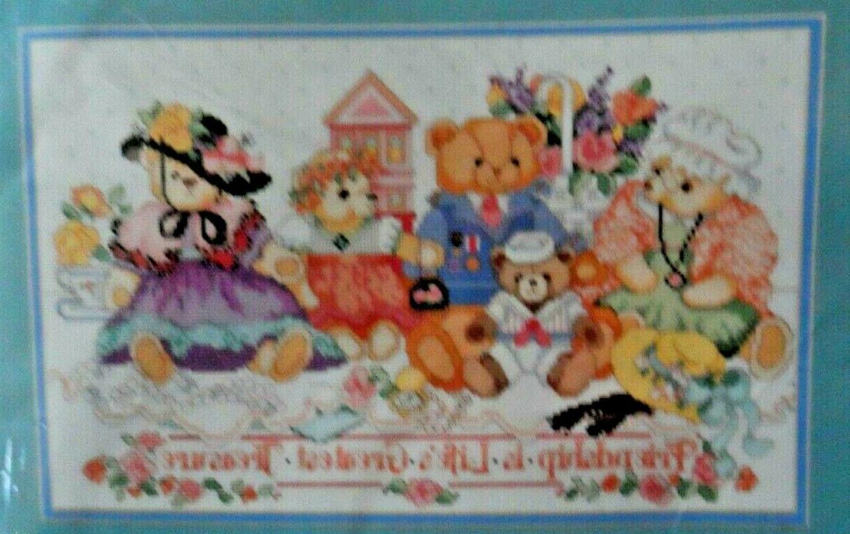 Bucilla Bears Cross Stitch Vintage