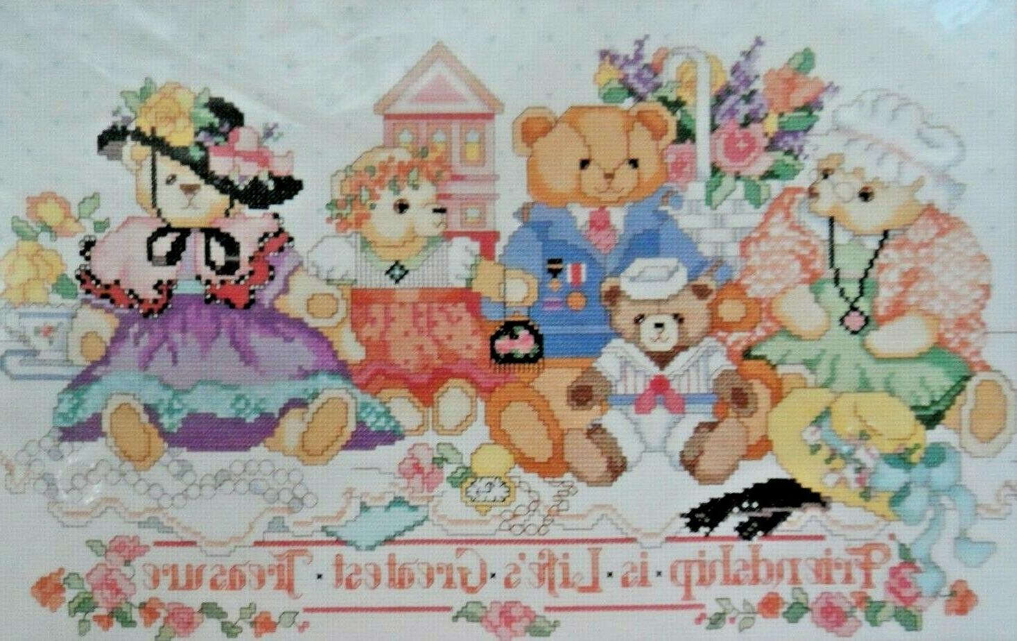 friendship bears counted cross stitch kit 40516
