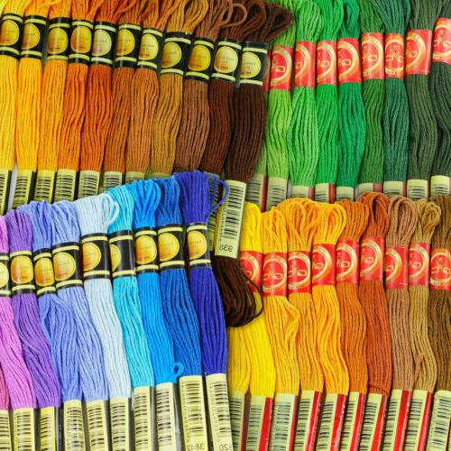Full 477 Skeins Rainbow Color Embroidery Floss Set - Excelle