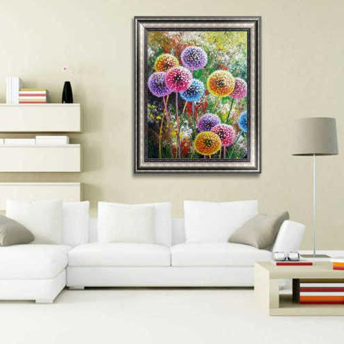 Full Drill 5D Diamond Dandelion Cross Stitch Decors