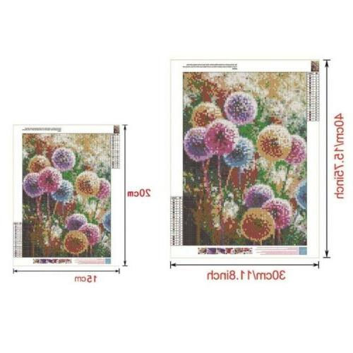 Full DIY Diamond Dandelion Stitch Kits Decors