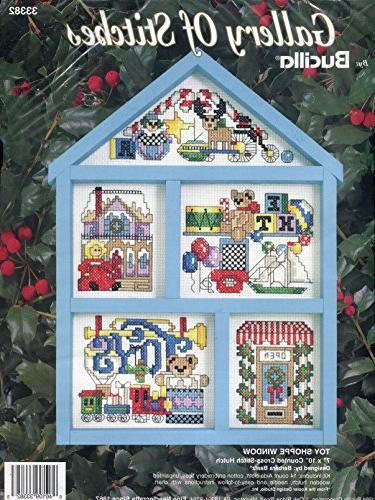 Bucilla Gallery Toy Window Cross-Stitch