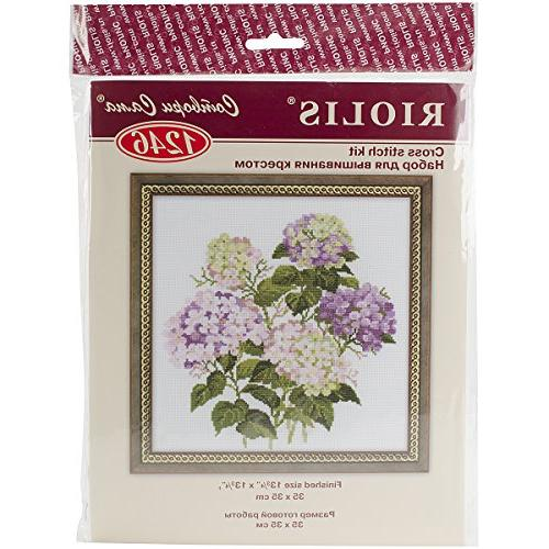 garden hydrangea counted cross stitch