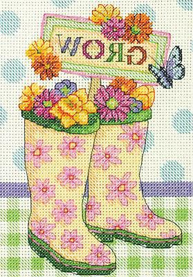 grow mini counted cross stitch