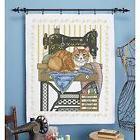 Herrschners Vintage Sewing Room Lap Quilt Top Stamped Cross
