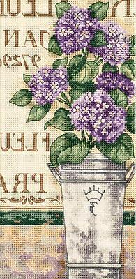 Hydrangea Floral Cross Stitch Kit