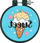 'Learn a Craft' Cross Stitch Kit ~ Sweet Ice Cream EASY FOR