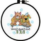 """Dimensions Learn-A-Craft """"Best Friends Forever"""" Stamped Cros"""