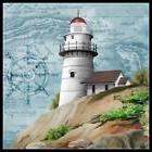 Lighthouse Map - Chart Counted Cross Stitch Patterns Needlew