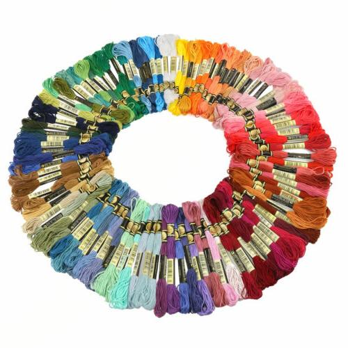 Lot 100 Multi Colors Cross Stitch Floss Cotton Thread Embroi