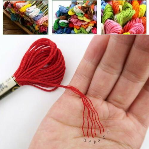 Lot Colors Stitch Cotton Thread Floss Sewing Skeins