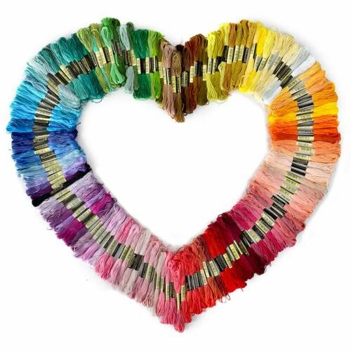 lot multi colors cross stitch cotton embroidery