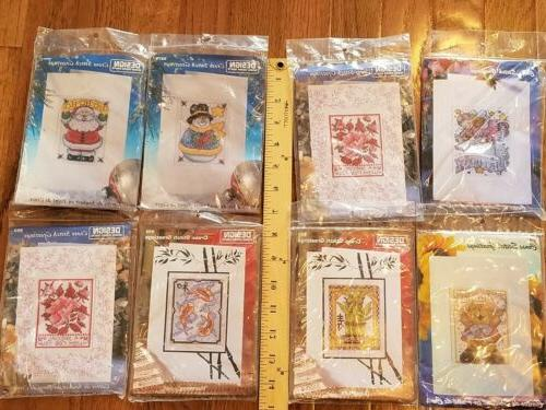 lot of 8 cross stitch greeting cards